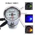 Universal Motorcycle Dual Odometer Speedometer Gauge LED Backlight Signal Light Drop Shipping