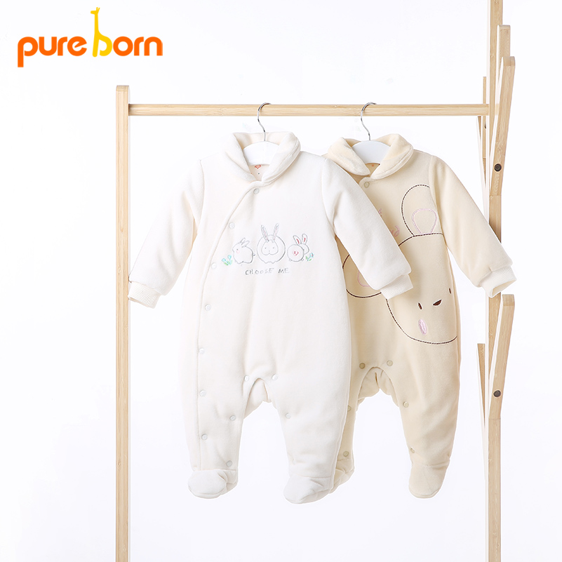 Pureborn Baby's Footie Long Sleeve for Newborns Costumes for Boy Girl Baby Jumpsuit Overalls One piece Baby Clothing Brand New женский комбинезон brand new v jumpsuit