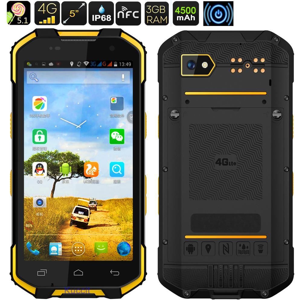 2017 Aggiornamento S28 Telefono Impermeabile Android 6.0 Smartphone Rugged Telefono Della Cina 4G LTE Octa Core Dual Sim GPS senza fili caricatore