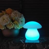 Yenilik Büyük mantar lamba Mantar Led Gece Lambası Renkli LED Lamba Romantik Masa Lambası Ev sanat dekoru Aydınlatma Luminaria