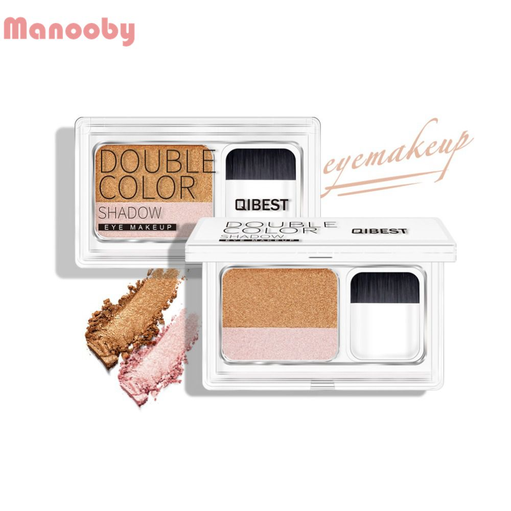 Eye Shadow Popular Brand Two-tone Lazy Eye Shadow Shimmer Lasting Natural Make Up Seal Eye Shadow Gradient Pearl Eye Shadow With Brush Tslm1 Beauty Essentials