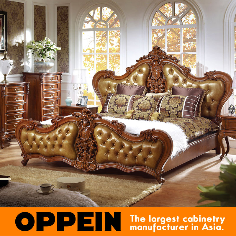 luxury traditional bed with upholstered headboard bedroom furniture from china furniture factory ob 0314043 - Cheap Queen Bed Frames And Headboards