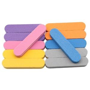 Image 2 - Mini tampons à ongles de couleurs mélangées, jetables, lot en éponge, outil de manucure, ponçage, polissage, brillant, lot de 100 pièces