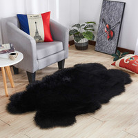 Luxury Faux Fur Carpet sheepskin Fur Fluffy Soft Area rug artificial wool carpets for living room bedroom tapetes soft sofa rugs