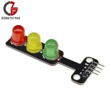 5 шт. DC 5 В мини светодиодный модуль светофора 5 мм красный желтый зеленый светодиодный дисплей мини сигнал движения для Arduino