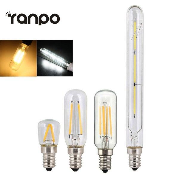 الرجعية اديسون لمبة E14 T20 T25 T26 2 واط 3 واط 4 واط Led مصباح شمعة فتيل إضاءة توفير الطاقة الزجاج لمبة Lampada المنزل الإضاءة