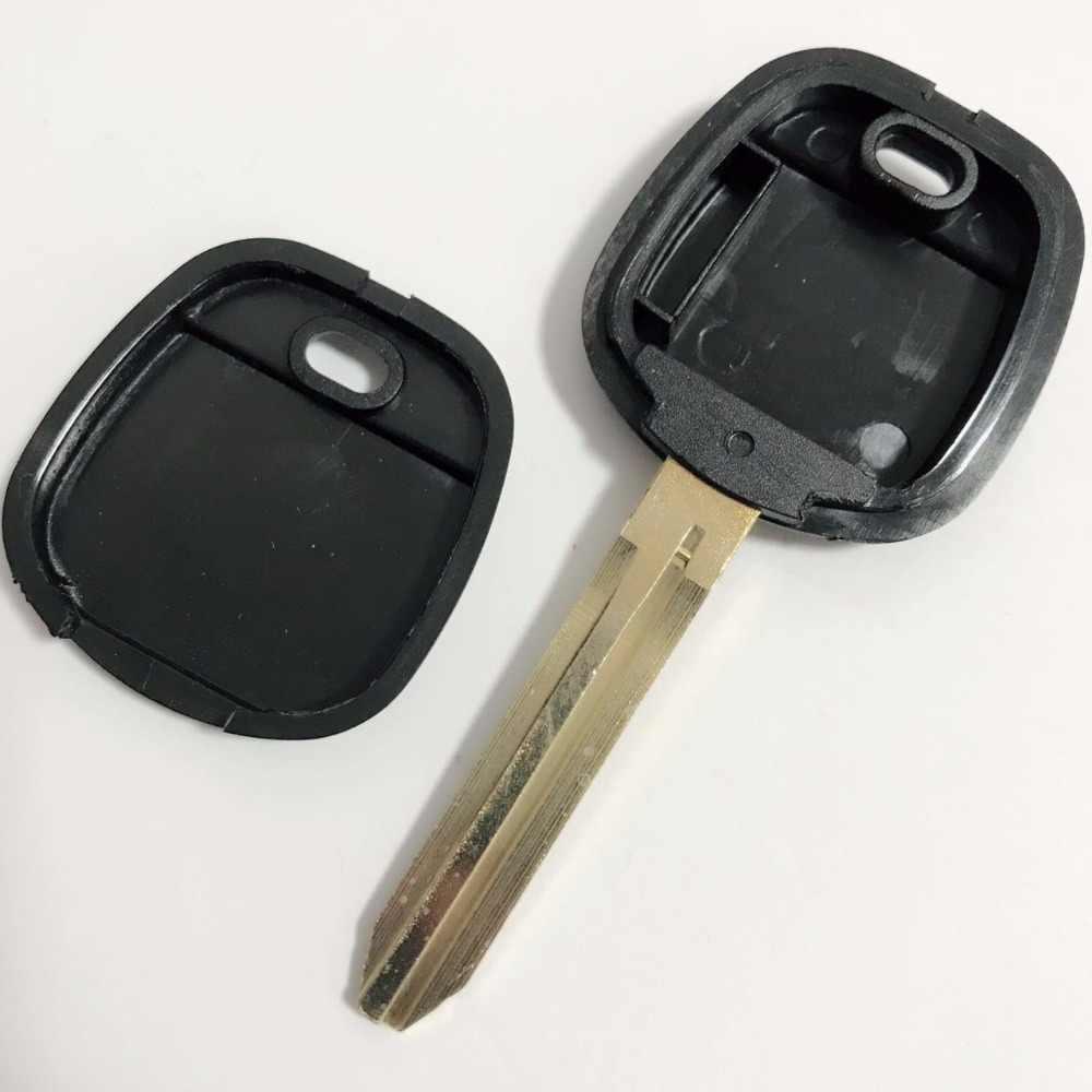 Замена иммобилайзер без кнопки для старых Toyota транспондер ключ в виде ракушки с лезвие toy43 для чип