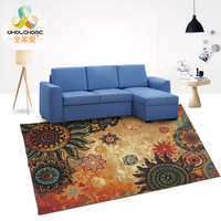 1PCS European Style 100 150cm Large Carpet Anti Slip Rectangular Living Room Sofa Table Mat Jacquard