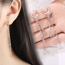 Korean Version Of The Geometric Creative New Earrings Personality Long Jewelry Triangle Temperament Tassel Earrings Female чудова а ван гог