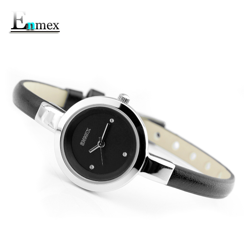 2017 festival Memorial Day gift Enmex women creative slim strap wristwatch brief design elegance fashion quartz lady watches 2017 new gift enmex hit color steel frabic strap creative dial changing patterns simple fashion for young peoples quartz watches