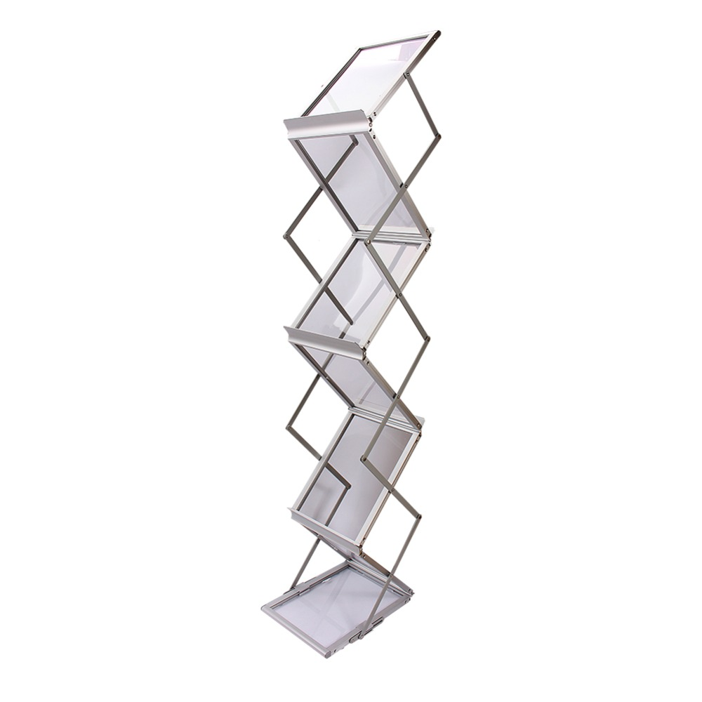 A4 Show Display Stand Folding Literature Brochure Rack Exhibition Leaflet Holder Tool Accessroy