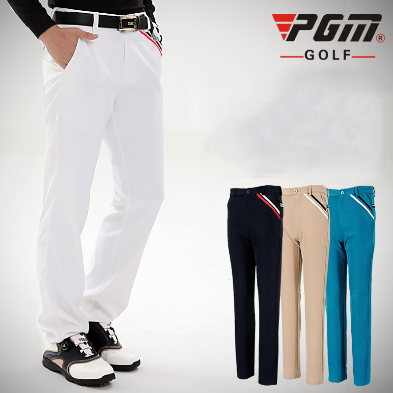 PGM Colorful Golf Pants For Men Solid Polyester Fall ...
