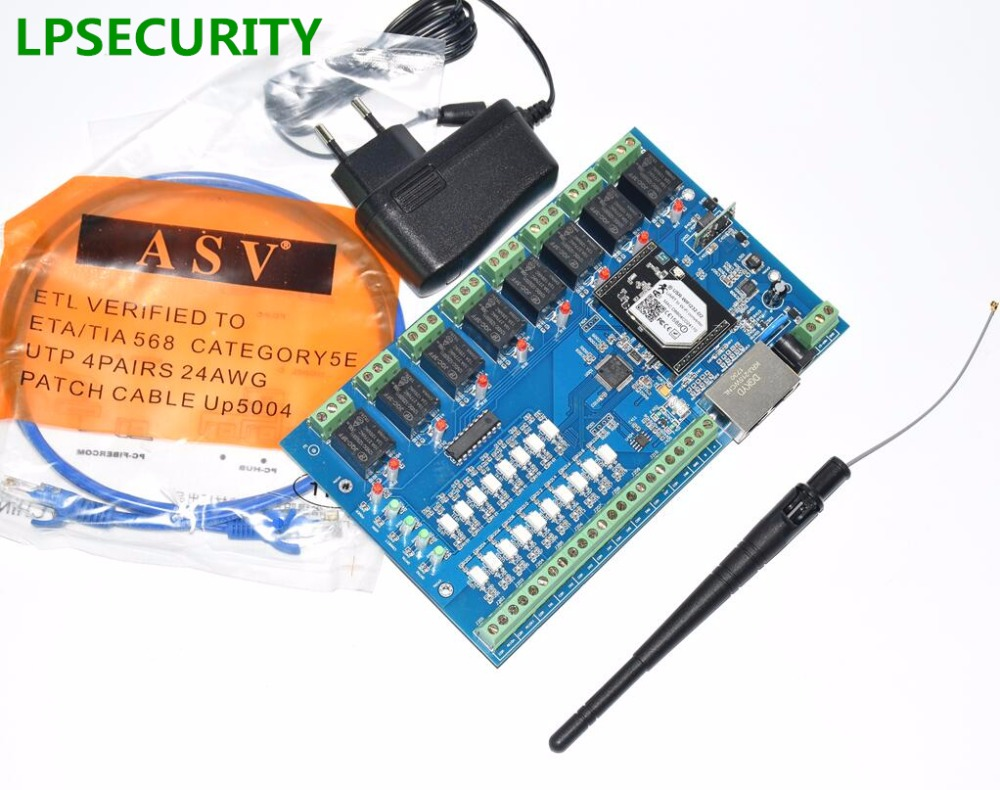 LPSECURITRY RJ45 LAN Network Relay Control Module 8 Channel WiFi Relay Remote Control Board Switch card Support Timing