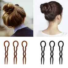 Kemei 3pcs Fork Tools Braid Hairstyle Hair Fork U Shape Fork Clips Pin Accessories 8.7cm/3.42''