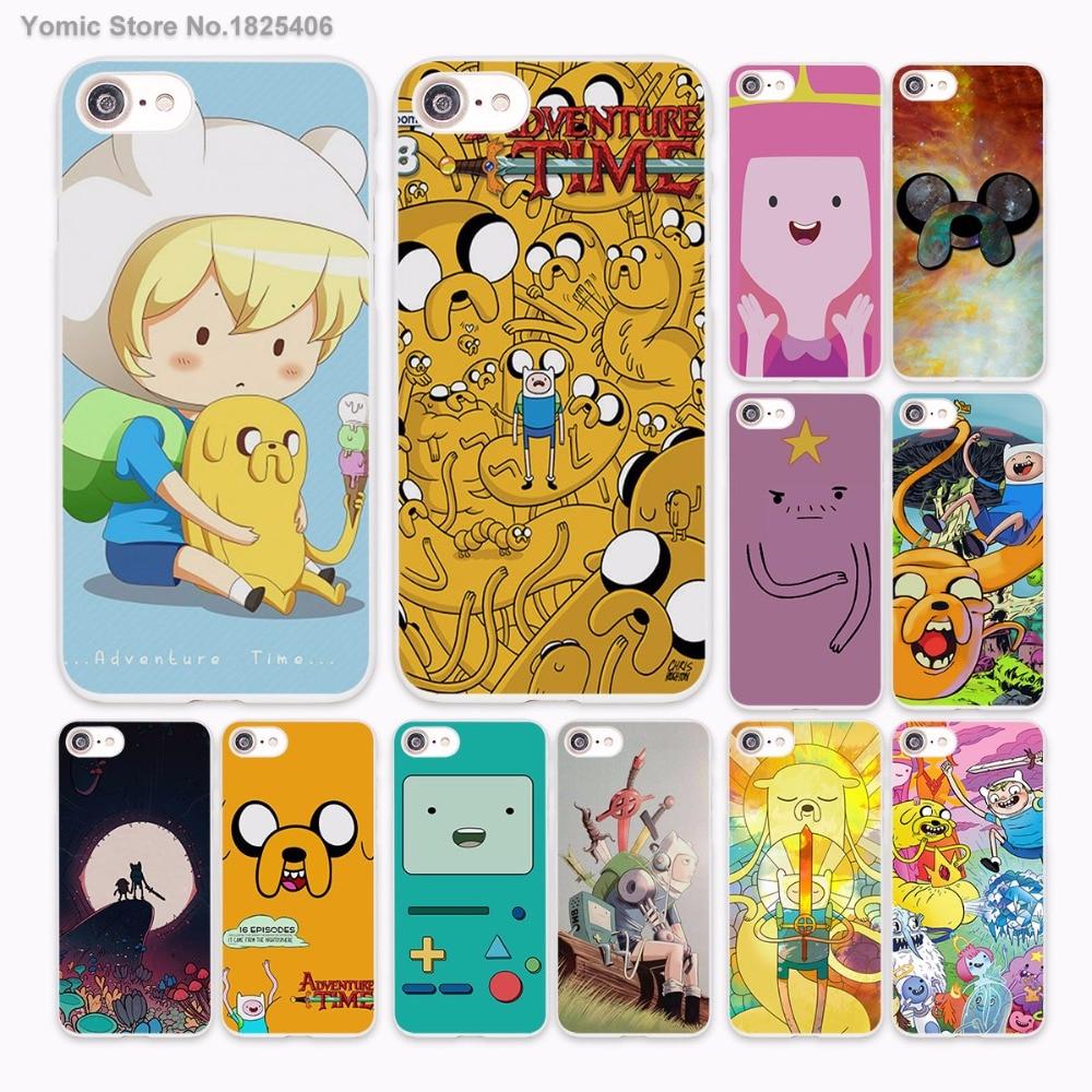 Adventure Time BMO Финн Лампи Дизайн Жесткий Белая кожа чехол для Apple iPhone 6 6S плюс 7 7 Plus SE 5 5S 5C Чехол для телефона