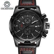 цена на 2018 Fashion Mens Watches OCHSTIN Top Brand Luxury Casual Geneva Quartz Watch Leather Sports Wristwatch Clock Relogio Masculino