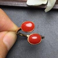 Fine Jewelry Настоящее 18 К розовое золото натуральный красный драгоценный Коралл Италия происхождения драгоценных камней Сертифицированный жен