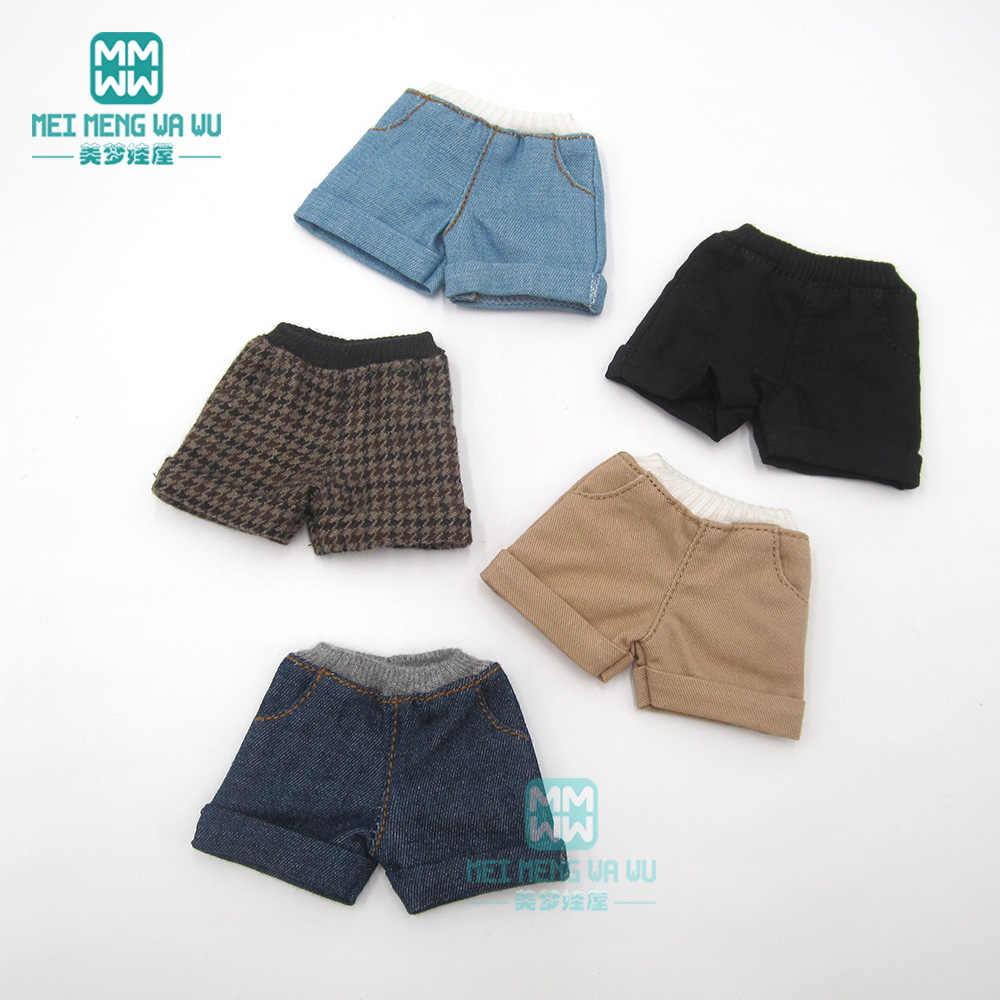 Past Blyth Azone 1/6 poppenkleertjes fashion cuffed shorts zwart, kaki, bruin