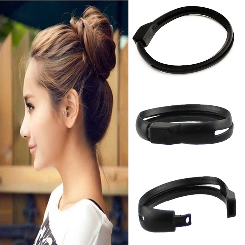 Women French Styling Hair DIY Tool Donut Bun Clip Twist Maker Holder Hair bands заколка french twist