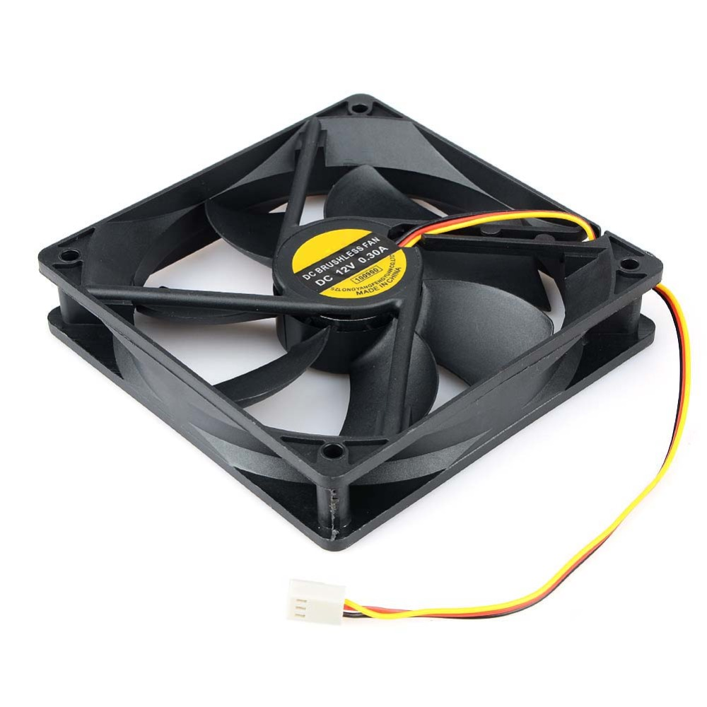 Hot Sale 120x25mm <font><b>120mm</b></font> <font><b>Fan</b></font> 12V DC Brushless <font><b>PC</b></font> Computer Case Cooler 3Pin Connector Cooling <font><b>Fan</b></font> For CPU Radiating For Desktop <font><b>PC</b></font> image