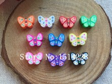 Free shiping!  Hot selling mixed 200pcs/lot polymer clay kawaii butterfly beads for home decoration,DIY