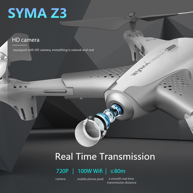 цена на Syma Z3 RC Drone Foldable FPV Quadcopter with HD Wifi Camera Real-time Altitude Hold Optical Positioning Flow drone vs x5c x8pro