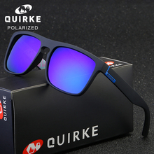 QUIRKE  Polarized Sunglasses Square Oculos Driving Glasses Men Women Unisex Sports Luxury Brand Google UV400 With Box