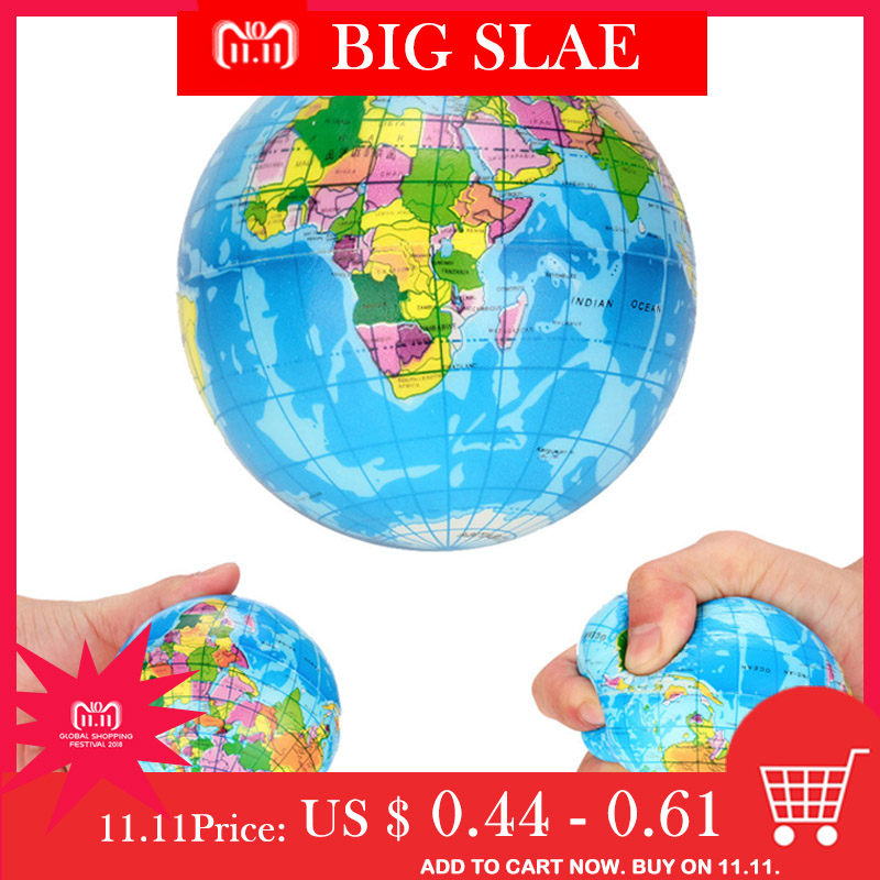 Soft Model Toys For Children Infant Stress Relief World Map Foam Ball Atlas Globe Palm Ball Planet Earth ball lowest price zk цена и фото