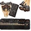 32 unids Pro Soft Cosmética Sombra de Ojos Lip Powder Makeup Brush Tool Set Kit con el Bolso Del Caso