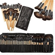 32pcs Pro Soft Cosmetic Eyeshadow Lip Powder Makeup Brush Tool Set Kit with Case Bag