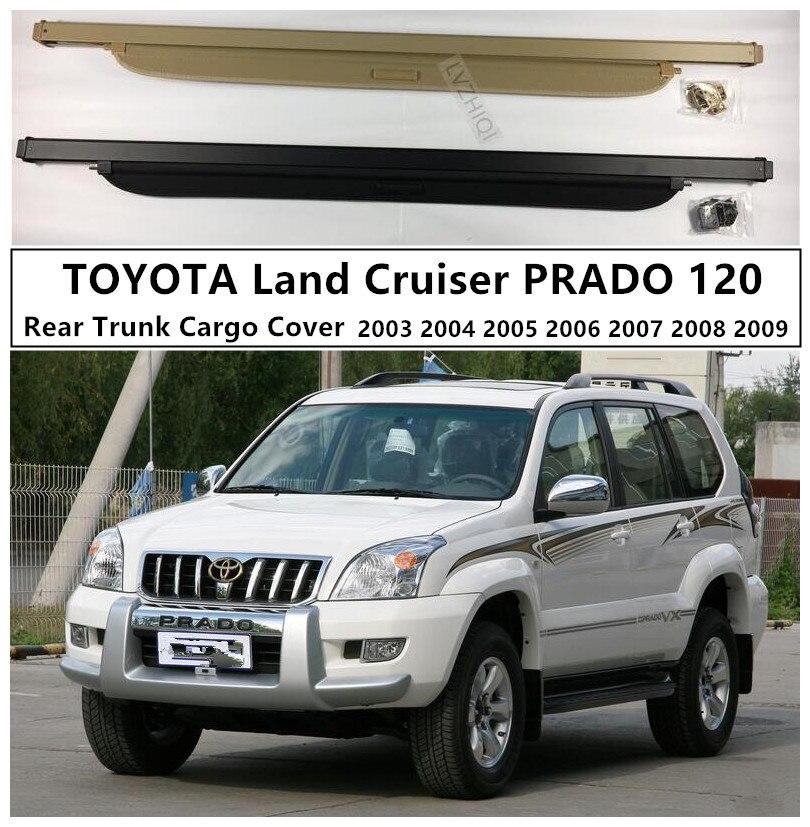 Couvercle de protection de coffre arrière de voiture pour TOYOTA Land Cruiser PRADO 120 2003 04 05 06 07 08 2009 accessoires de haute qualité