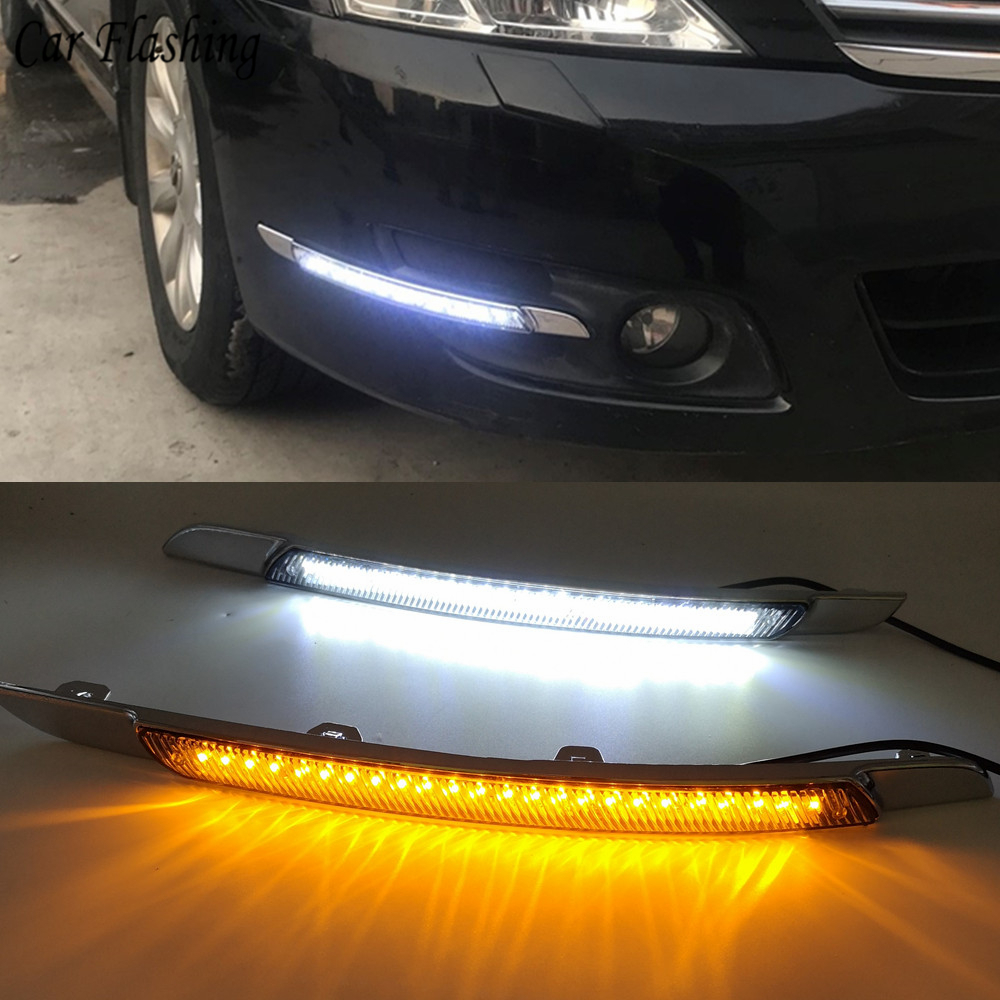 Car Flashing LED Daytime Running Light For Nissan Altima teana 2008 2009 2010 DRL with turn