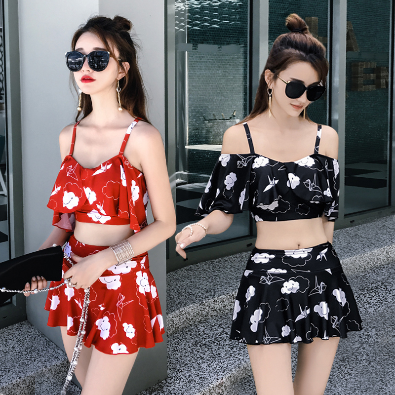 2017 Sexy Floral Bikinis Women Swimsuit Push Up Swimwear Plus Size Bikini Set Beach Bathing Suit Swim Wear Biquini Dress summer sexy swimsuit vintage high waist bikini retro push up swimwear women plus size bathing suit printed floral bikinis set