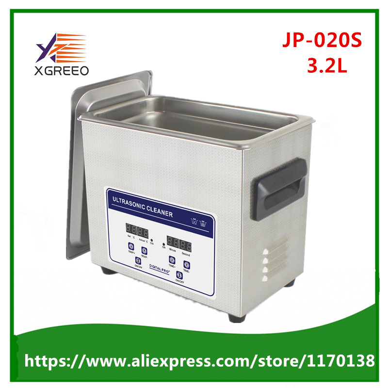 JP 020S Digital Ultrasonic Cleaning Baskets Jewelry Watches Dental PCB CD Ultrasound Mini Ultrasonic Cleaner Bath
