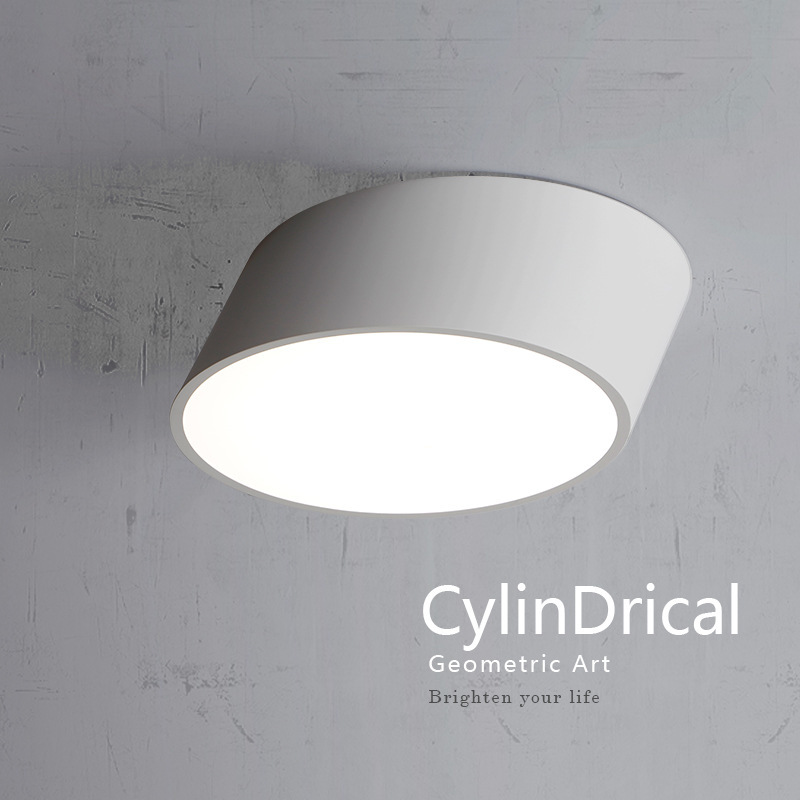ФОТО Creative Geometry DIY Iron Ceiling Lamp D25/40/50cm Black/White Led Acryl Ceiling Light Corridor Home Lighting Lamparas De Techo