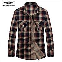 Men Flannel Plaid Shirt 100 Cotton 2017 Spring Autumn Casual Long Sleeve Shirt Soft Comfort AFS