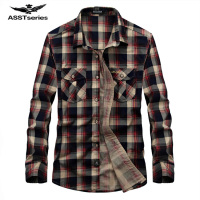 Men Flannel Plaid Shirt 100 Cotton 2017 Spring Autumn Casual Long Sleeve Shirt Soft Comfort AFS
