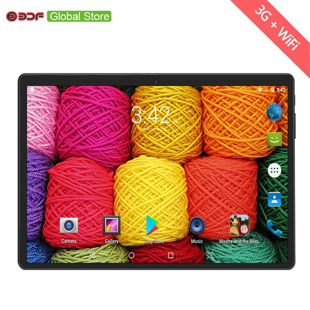 10 Inch Screen Tablets Pc Mobile Phone Call SIM Card Computer Pc Android 6.0 Tablet Pc Quad Core 4GB +32GB FM Wi-fi Mini Netbook