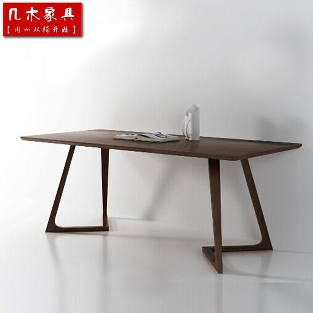 € 715.0 |Estilo nórdico ikea muebles / italia / cenizas chino oficina /  rectángulo / mesa de comedor de madera maciza mesa 4 tamaño y 3 color en ...