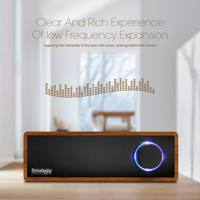 Wireless Soundbar Sound Box Wooden Speakers Strong Bass Subwoofer For Pc Smartphones Sl 50 Wooden Retro Bluetooth Speaker