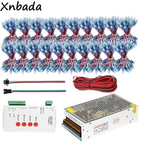 1000PCS 12MM WS2811 Full Color Led Pixel Module IP68+T 1000S WS2811 Led Controller+5V 40A Led Power Supply Adapter