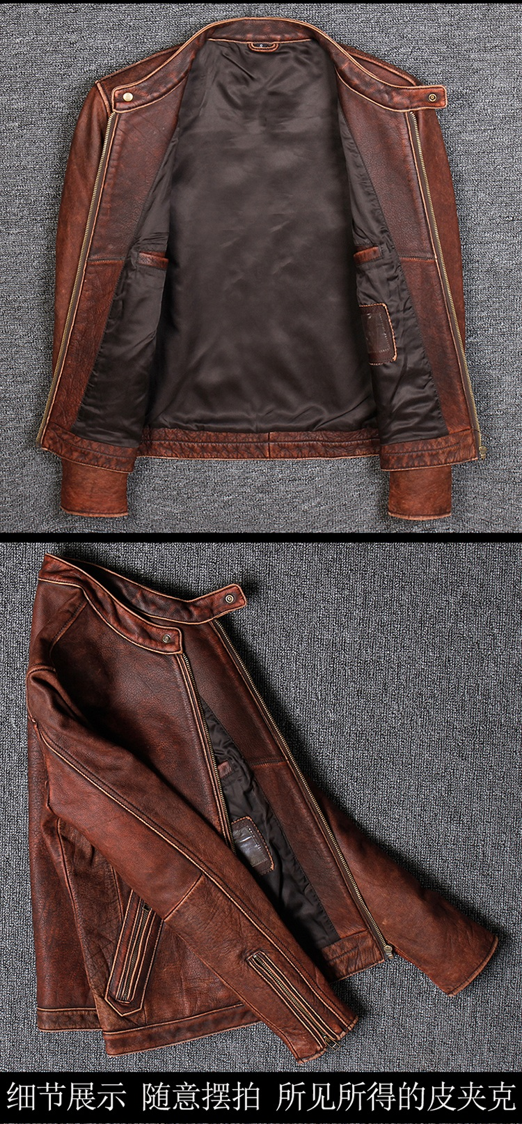 HTB1cdYpUhjaK1RjSZFAq6zdLFXar Free shipping.Plus size Brand Classic style cowhide jacket,mens 100% genuine leather jackets,biker vintage quality coat.sales