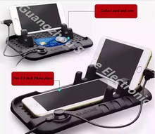 El Uso del coche Antideslizante Pad Multi-funcional de Carga Magnética de Silicona Antideslizante Mat Coche de Navegación de Teléfono Móvil USB Cargador de Coche de Estilo