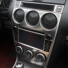 14 шт. Нержавеющая сталь на выходе автомобильного кондиционера, декоративная рамка для Mazda 6 2013- Z2EA761