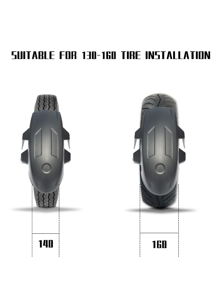 Image 4 - Motorcycle Rear Fenders Flare Mud Flap Mudguard Guard Blavk For Honda cbf 190r cbr 190x cbf150