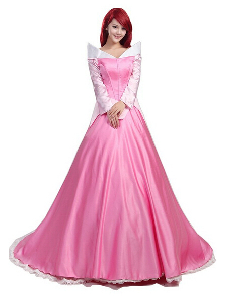 2017 Sleeping Beauty Cosplay Princess Aurora Costume Outfit For Halloween