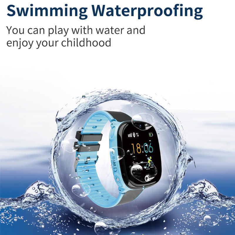 SOS Calling Children's Smart Watch GPS Tracker Kids Watches Phone Positioning IP67 Waterproof Watch For Boy And Girl