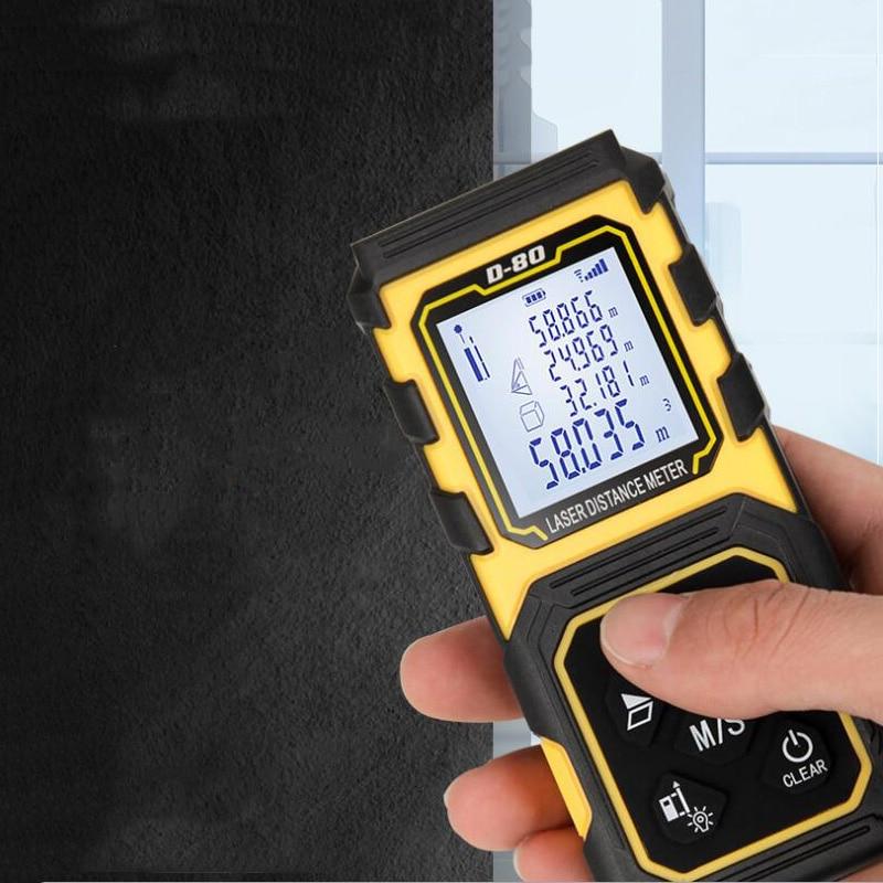 Laser Rangefinder 40M 60M 80M 100M digital laser rangefinder infrared electronic level measuring instrument test tool