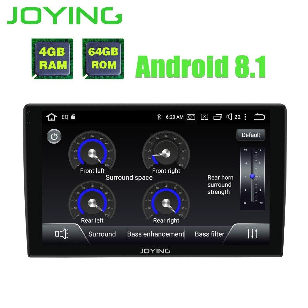JOYING android 8.1 autoradio autorradio 1din 9 ''stéréo Octa 8 Noyaux navigation gps lecteur avec 2.5D écran En Verre Incurvé et DSP