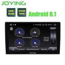 Joying Android 8,1 автомобилей Радио Авто 1din 9 »стерео Octa 8 ядер gps навигации плеер с 2.5D изогнутые стекло экран и DSP
